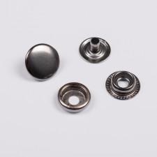 Кнопка установ. металл 15мм 4 эл. ч.никель