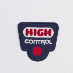 "Термоаппликация  ""HIGH control"" синий 6,5х6,8см"