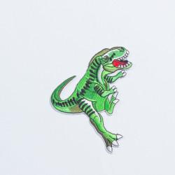 """Термоаппликация """"Динозавр"""" зеленый 8,5х9,5см"""