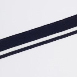 Подвяз трикотаж 3,5х80см полосы т.синий/белый