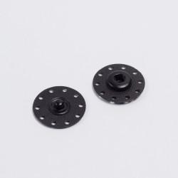 Кнопка пришив. металл 25мм черный