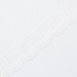 Кружево плетеное KRUZHEVO 62мм молочный