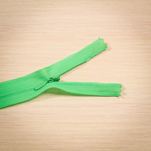 Молния потайная Т3 50 см Китай зеленый яркий