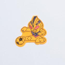 """Термоаппликация """"Робот"""" желтый 8,5х8см"""