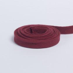Шнур плоский плетеный 13мм красно-корич.