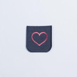 Термозаплатка джинсовая 8х7см сердечко