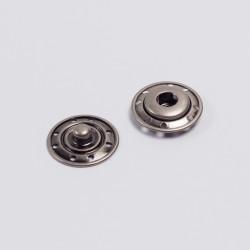 Кнопка пришивная металл 19мм т.серебро
