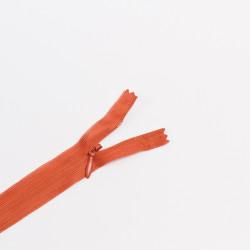 Молния потайная Т3 50см красно-оранжевый