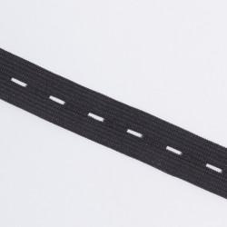 Резина перфор. 20мм черный