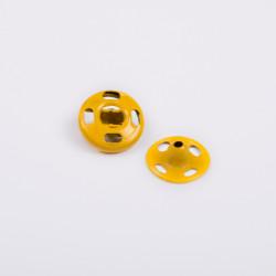 Кнопка пришив. металл 9мм желтый