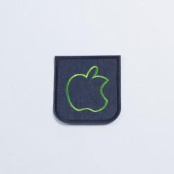 Термозаплатка джинсовая 10х9,5см яблоко