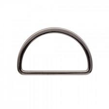 Полукольцо металл литое 50х28мм черный никель