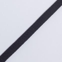 Шнур плоский плетеный 12мм черный