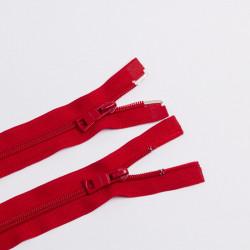 Молния спираль Т7 60см 2 бегунка разъемная красный