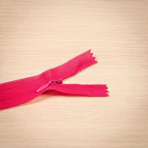 Молния потайная Т3 50 см Греция розовый яркий