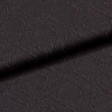 УЦЕНКА Трикотажное полотно джерси косы черный