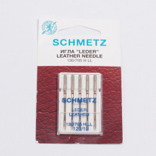 """Иглы машинные """"Schmetz"""" кожа №120 5шт/уп"""