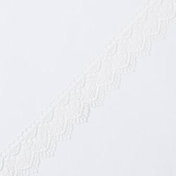 Кружево плетеное KRUZHEVO 43мм молочный