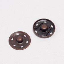 Кнопка пришив металл 30мм медь