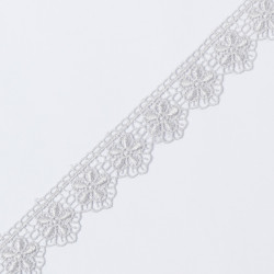 Кружево плетеное KRUZHEVO 30мм серый