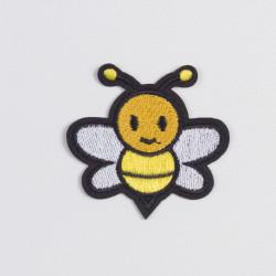 "Термоаппликация ""Пчелка"" с белыми крыльями 6х3,5см"
