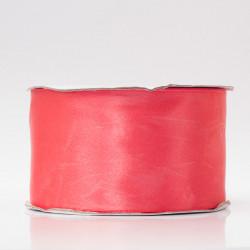 Лента атлас, 50мм розовый