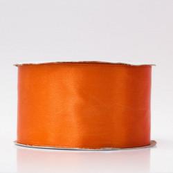 Лента атлас, 50мм морковный