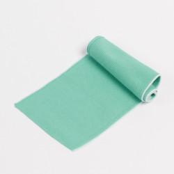 Воротник трикотажный 36см пастельно серо-зеленый