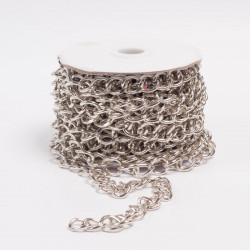 Цепь декоративная 12х15х4мм никель