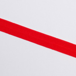 Косая бейка эластичная 15мм красный