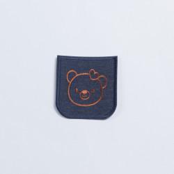 Термозаплатка джинсовая 8х7см мишка