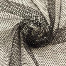 Трикотаж сетка мягкая 150см черный