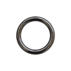 Кольцо металл литое 30х5мм черный никель
