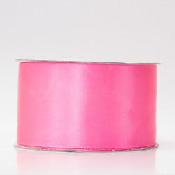 Лента атлас, 50мм яр.розовый (неон)
