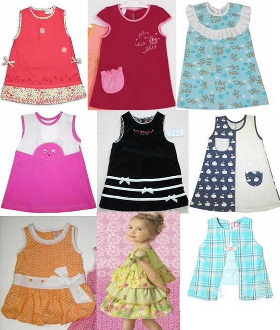 Детские платья простые с