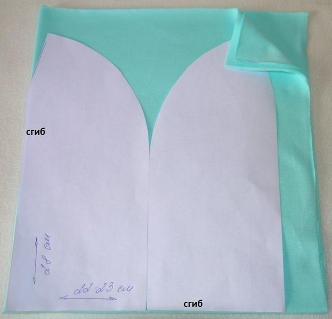 Шапка из ткани