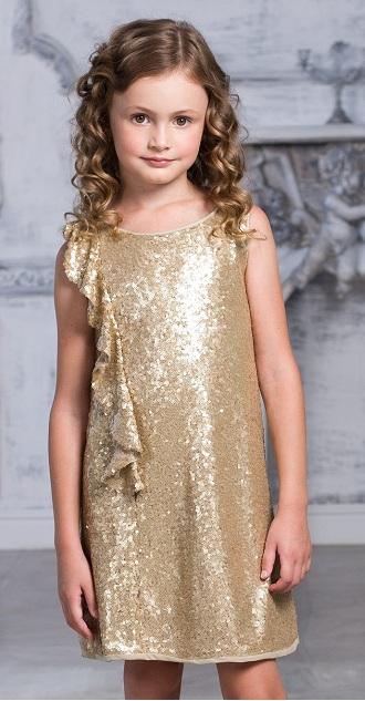 Платье с пайетками для девочки сшить 28